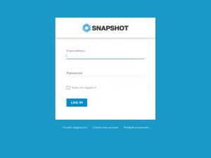 The SnapShot login page